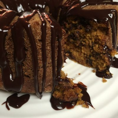 Double-Chocolate Pumpkin Bundt Cake