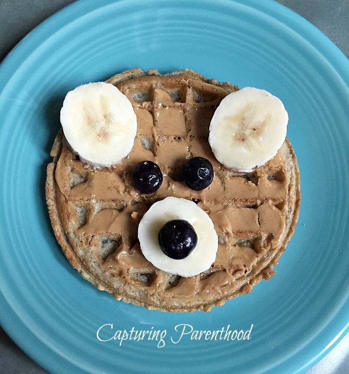 Bear Waffle Toddler Breakfast © Capturing Parenthood