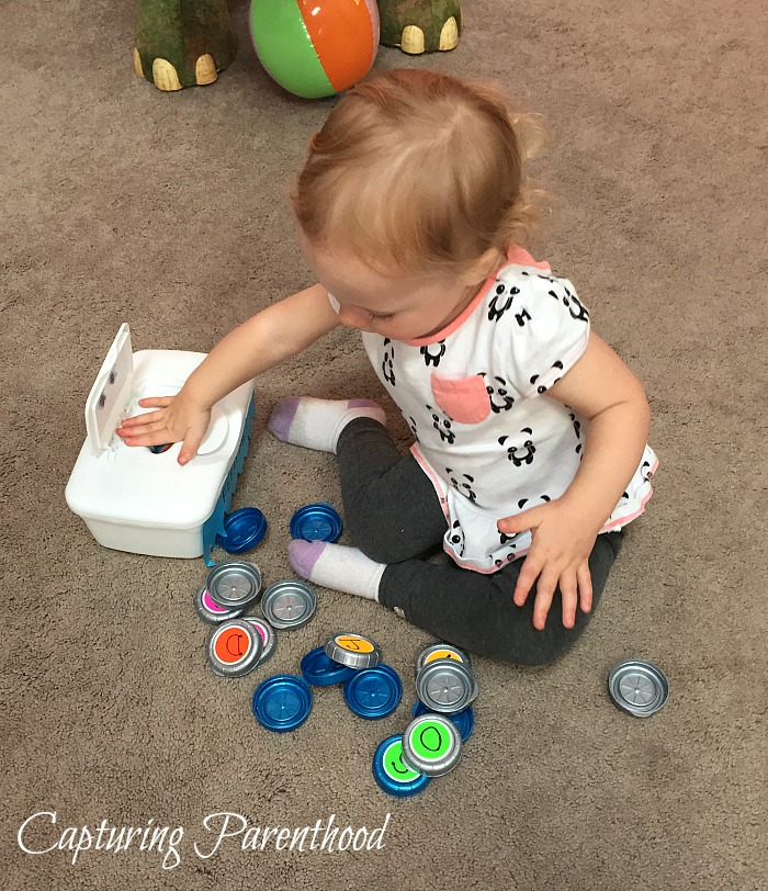 Baby Wipes Containers Make Great Toddler Toys - © Capturing Parenthood