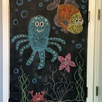Chalkboard Door Art © Capturing Parenthood