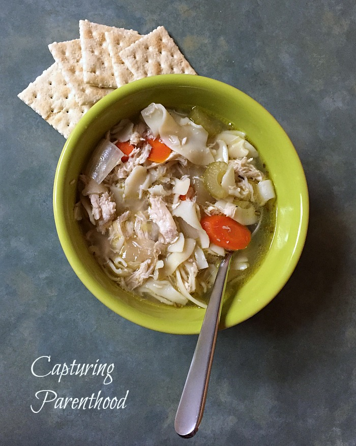 Crockpot Chicken Noodle Soup - © Capturing Parenthood