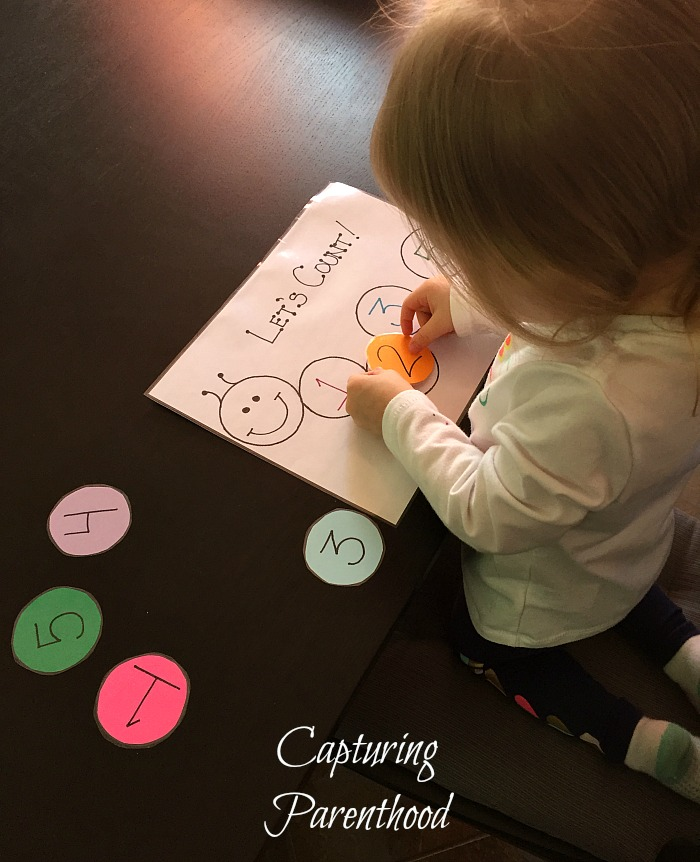 Counting Caterpillar © Capturing Parenthood