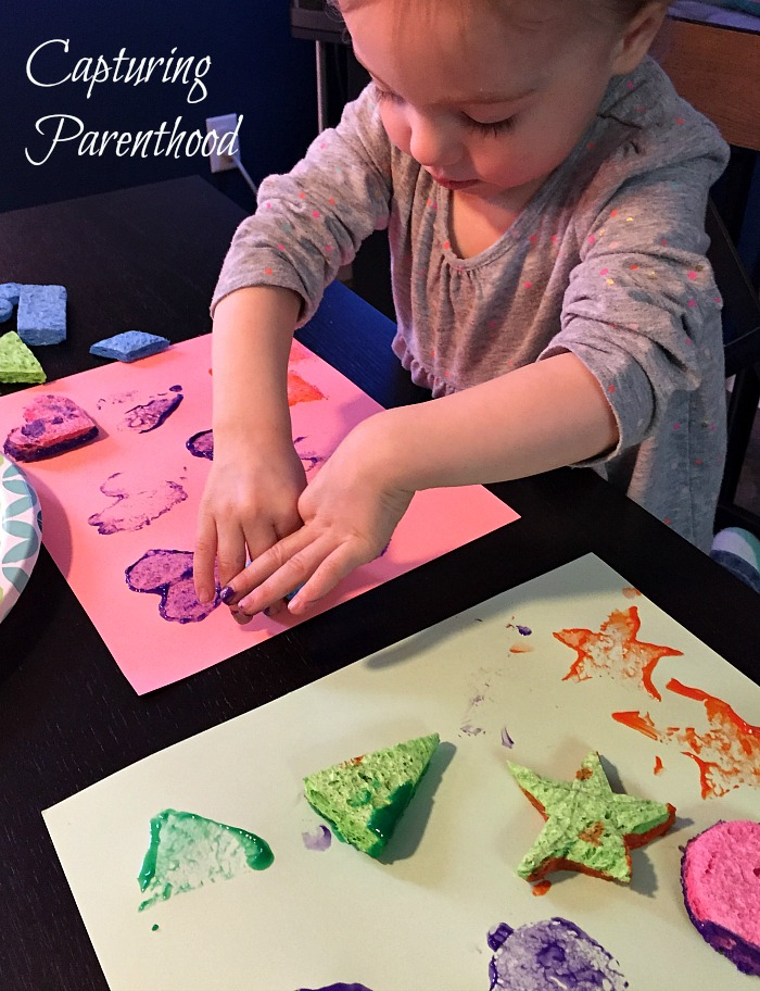 Shapes Sponge Painting © Capturing Parenthood