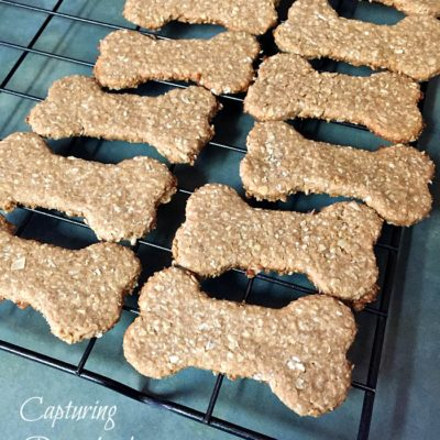 Peanut Butter & Banana Dog Treats
