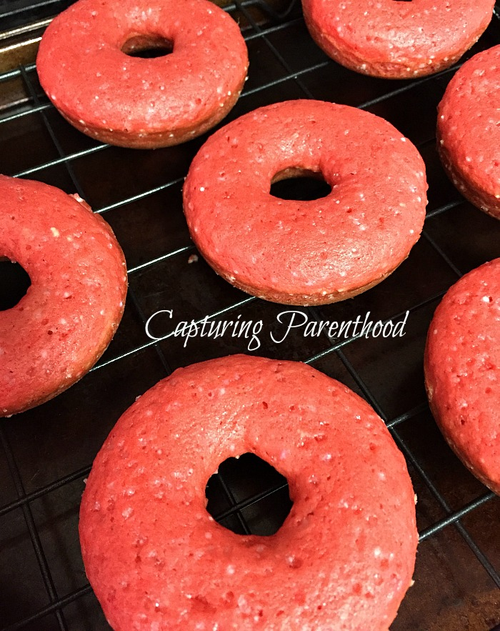 Baked Valentine's Day Donuts (Dairy-Free) © Capturing Parenthood
