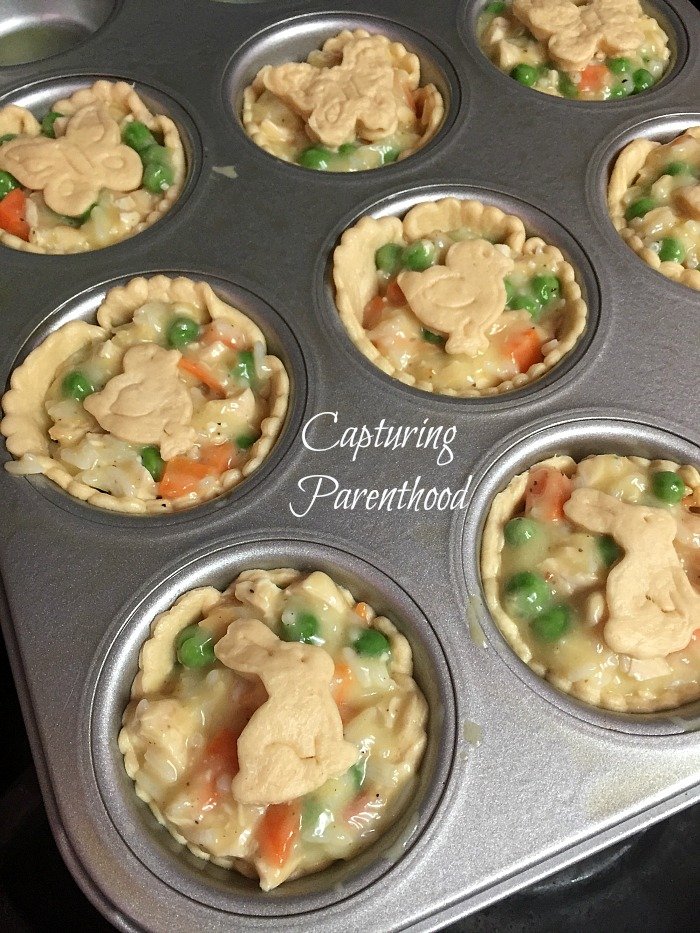 Mini Chicken Pot Pies © Capturing Parenthood