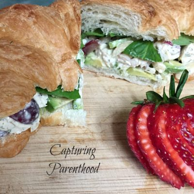 Chicken Salad Croissants © Capturing Parenthood