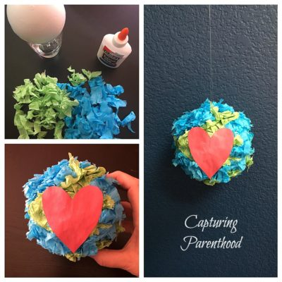 I Love The Earth - Foam Ball Craft © Capturing Parenthood