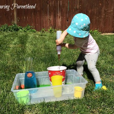 Pouring Station – The Perfect Summer Activity for Toddlers