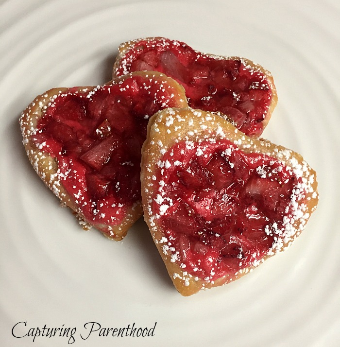 Strawberry & Cream Cheese Pastry Hearts © Capturing Parenthood