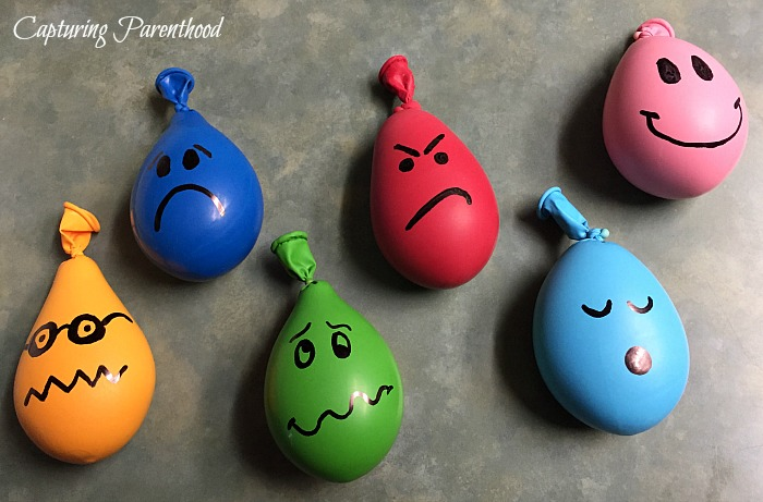Playdough Stress Ball Balloons © Capturing Parenthood