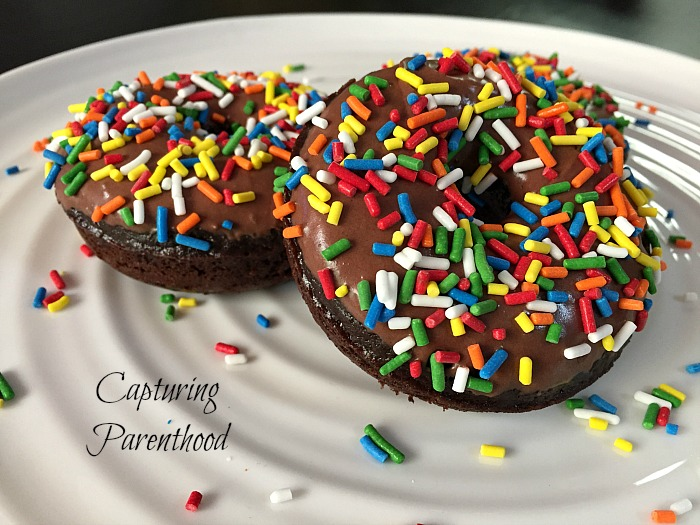 Baked Double-Chocolate Donuts © Capturing Parenthood