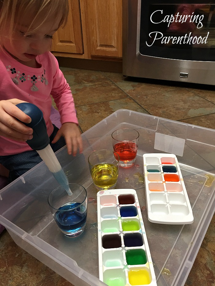 Color-Mixing Water Transfer © Capturing Parenthood