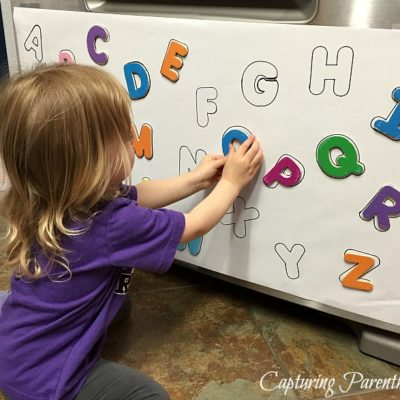 DIY Alphabet Magnet Puzzle © Capturing Parenthood