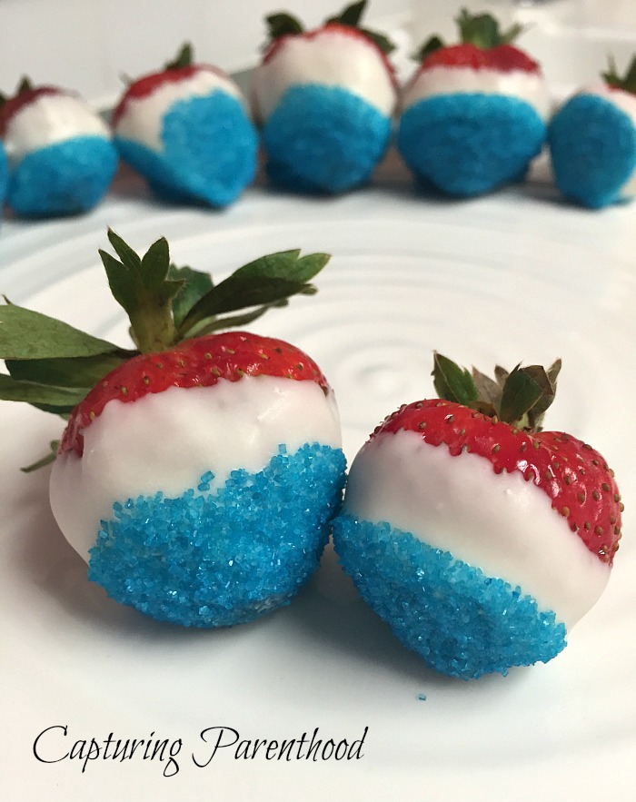 Fun Fourth of July Fruits © Capturing Parenthood