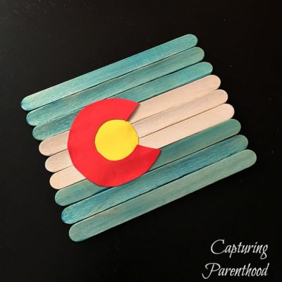 Colorado State Flag Craft © Capturing Parenthood
