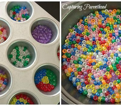 Melted Craft Bead Suncatchers