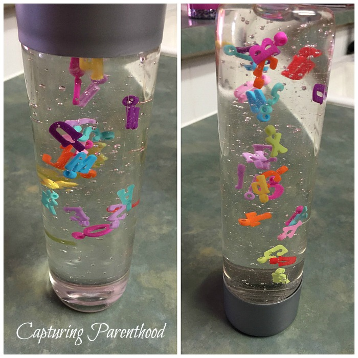 ABC's Sensory Bottle © Capturing Parenthood