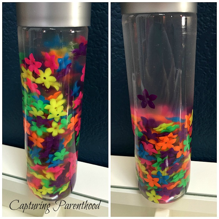 Flower Garden Sensory Bottle © Capturing Parenthood