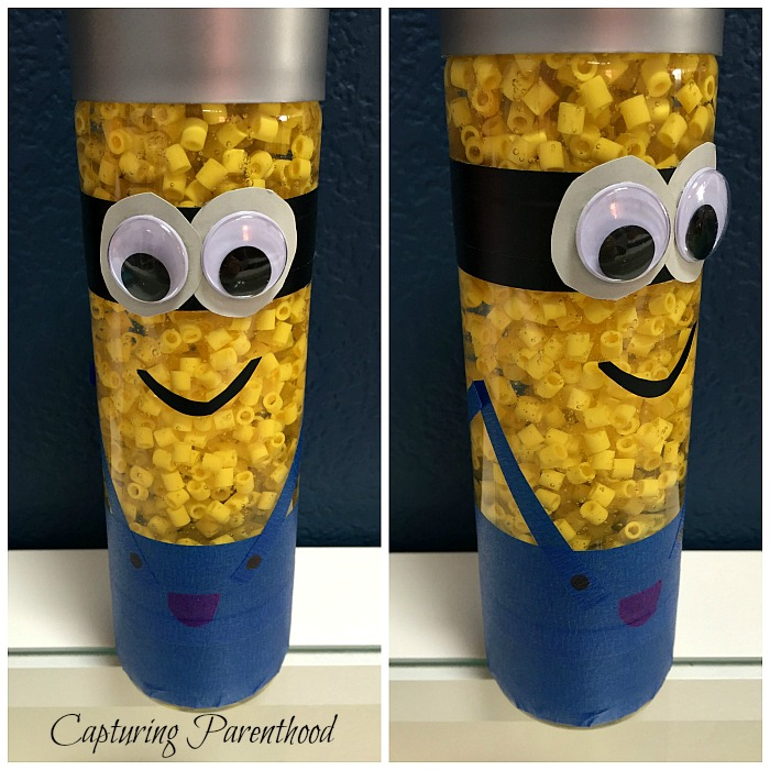 Minion Sensory Bottle © Capturing Parenthood