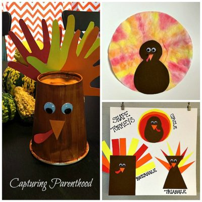 Toddler Turkey Crafts © Capturing Parenthood