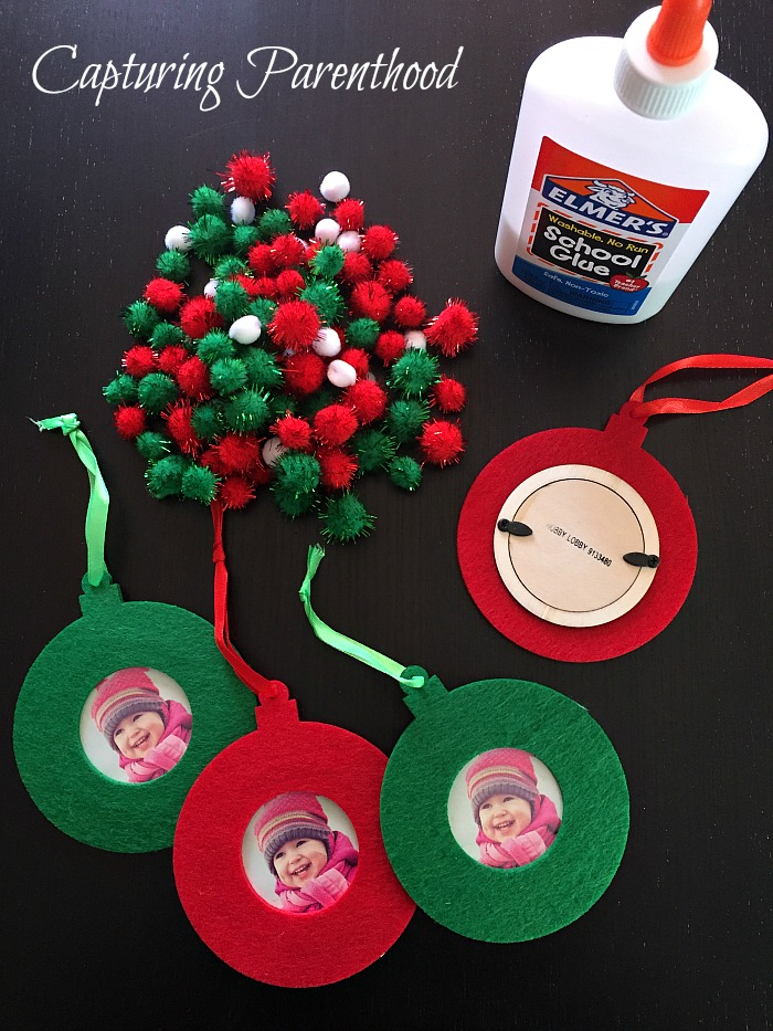 Pom Photo Ornaments © Capturing Parenthood