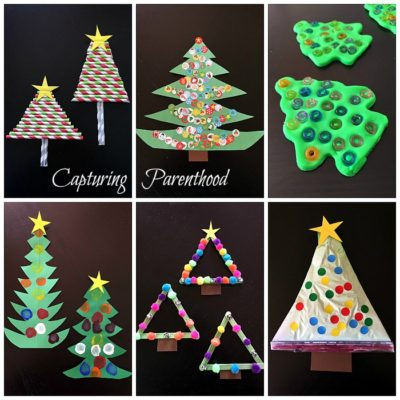 Christmas Tree Arts + Crafts for Kids
