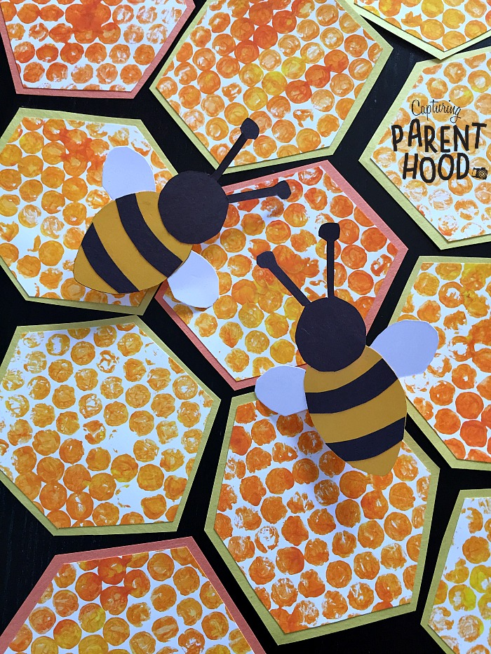Bubble Wrap Beehive Paper Bee Rings Capturing Parenthood
