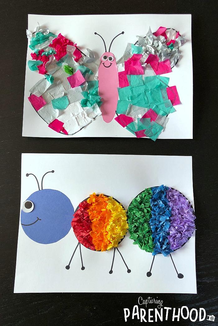 Tissue Paper Bugs Capturing Parenthood
