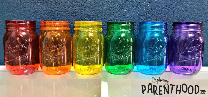 Diy Tinted Mason Jars Two Ways